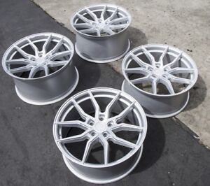20x9 20x10 5 Aodhan Flow Forged Aff1 5x114 3 32 45 Silver Rims Fits Mustang Gt