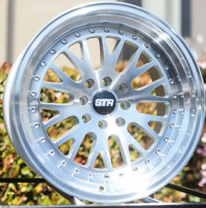 One 16x9 Str520 4x100 114 3 20 Silver W Machine Face And Lip Wheel