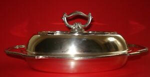 Antique Victorian Sheffield Silver Plate Double Vegetable Covered Dish Hallmarks