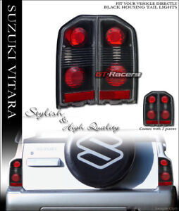 For 1988 1998 Suzuki Vitara Sidekick Tracker Black Altezza Tail Lights Lamps