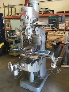 Bridgeport Series 1 Vertical Mill Milling Machine W Readout And Power Feed