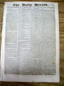 1838 Newspaper With Deaths From Cherokee Indian Removal Along The Trail Of Tears