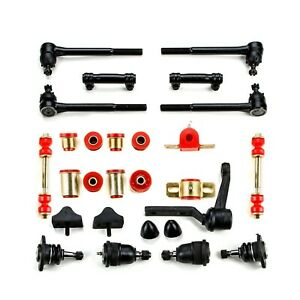 1971 1972 Chevrolet Monte Carlo Red Poly Front End Suspension Master Rebuild Kit
