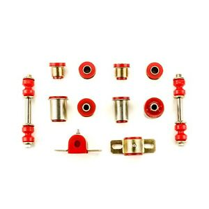 Front End Suspension Bushing Set Fits 1970 1974 Chevrolet Nova Red Polyurethane