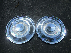 Lot Of 2 Genuine 1959 Chrysler New Yorker 14 Inch Hubcaps Wheel Covers