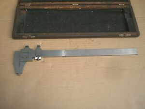 Brown And Sharpe 13 Vernier Caliper No 570 With Wood Storage Case