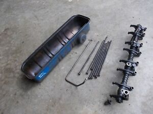 Ford 641 Tractor Engine Motor Rocker Arm Assembly Push Rods Valve Cover