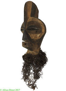 Songye Kifwebe Mask Male With Leather Decoration Africa