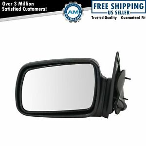 Power Door Mirror Smooth Black Left Lh Driver Side For 96 98 Grand Cherokee New