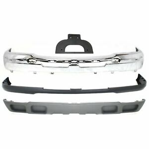 Bumper Cover Kit For 2003 2006 Chevy Silverado 1500 Base Lt Ls Models Front 4pc