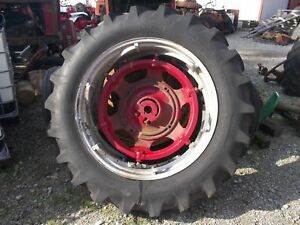 Farmall Ih 560 Sm 656 400 450 Tractor Power Adjust 14 Rim 14 9 X 38 Maxi T Tire