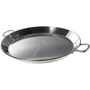 Matfer Bourgeat Polished Stainless Steel Paella Pan Induction Ready 11 070988