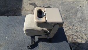 Ford F250 Jump Seat Console Jumpseat Super Duty F350 Tan Beige Cloth