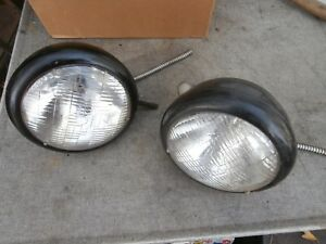 2 Antique 1930 s 1932 Plymouth 6 Volt Headlights