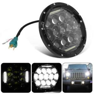 1x 7 Round 75w Cree Led Headlight Headlamp For Jeep Wrangler Jk tj lj Hot