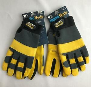 2 Mens Wells Lamont Hydrahyde Leather Work Gloves Large Heavy Duty Cowhide