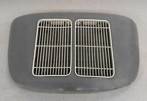 Nice Used Original Porsche 356a 356b Coupe Engine Lid W Twin Grill Grey 10 1962