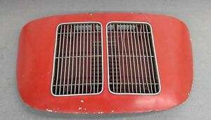 Nice Used Original Porsche 356a 356b Coupe Engine Lid W Twin Grill Red 11 Nla