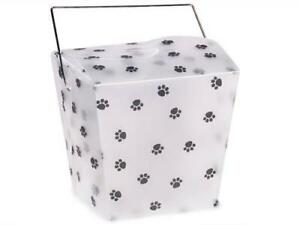 1 Unit Large Paw Print Take Out Boxes4x3 1 2x4 Frosted Plastic Unit Pack 12