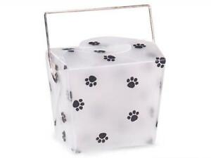 2 Unit Small Paw Print Take Out Boxes 2 3 4x2x2 1 2 Frosted Unit Pack 12