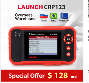 Launch Crp123 Professional Obd2 Car Scanner Obdii Code Reader Scan Tool Vii Abs