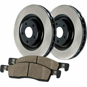 Centric 2 wheel Set Brake Disc And Pad Kits Rear New For Jaguar Xjr 909 20506