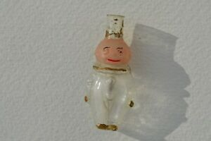 Rare Antique Miniature Hand Blown Kewpie Figural Glass Perfume Bottle Germany