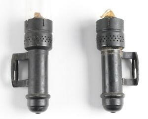 Vintage Brass Candle Sconce Pair Wall Mount Lamp Light Lantern Railroad