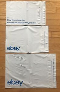 115 Ebay branded Polymailers Mailing Envelopes 35ea Of 3 Sizes Shipping Supplies