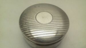 Vintage Art Deco Sterling Silver Powder Vanity Pot Jar 1924
