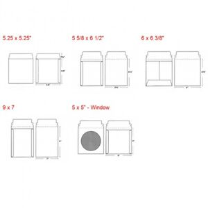 Cd dvd White Cardboard Flat Mailers With Self Seal Flap