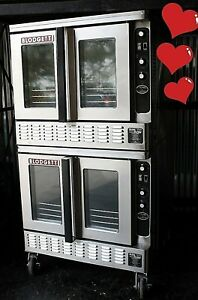 Blodgett Dfg 200 Double Gas Commercial Convection Ovens Pizza Bakery Depth