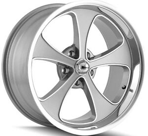 Staggered Ridler 645 Front 18x8 rear 18x9 5 5x139 7 5x5 5 0mm Grey Wheels Rims