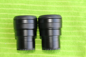 Nikon Eclipse 100 Microscope Eyepiece Cfi 10x 18 W Diopter Rings For 30mm Tube