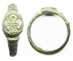 16th Century Tudor Period Betrothal Ring With Lovers Knot Device Size 9 1 4