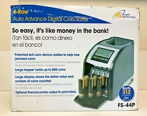 royal Sovereign Electric Coin Sorter Fs44 4 Rows Of Coin Counting Anti jam