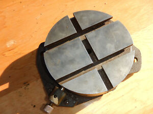 Vintage Atlas Milling Machine Mill Rotary Table W Index Pin Machinist Tool Lotb