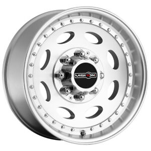 4 19 5 Inch Vision 81 Heavy Hauler 19 5x7 5 8x180 25mm Machined Wheels Rims