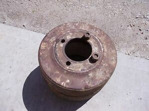 Farmall H Sh 300 350 Hv Tractor Orignl Ihc Paper Belt Pulley Real Nice W Bolts