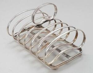 Fine Antique Silver Plated Toast Rack By Joseph Rogers 1900