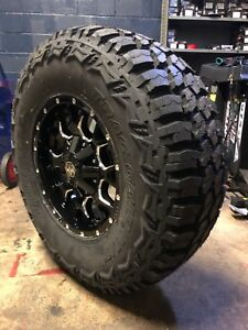 18x9 Mayhem Warrior Wheels 35 Mt Tires Package 5x5 Jeep Wrangler Tj Jk Jl