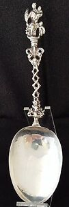 Charity Of Love Figural Sterling Silver Dutch Spoon