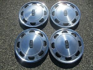 Genuine 1984 To 1986 Mercury Marquis 14 Inch Hubcaps Wheel Covers Factory Set