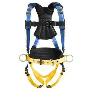 Werner H133105 Blue Armor 2000 Construction Harness Quick Connect Legs Xxl