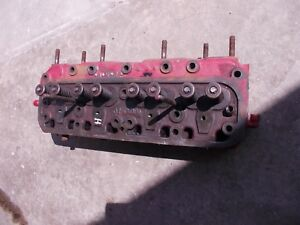 Farmall H Hv Early Sh Tractor Ih Engine Motor Cylinder Head Valves 8043 Dc