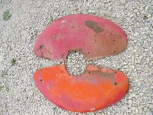 Farmall Cub Tractor Original Ih Ihc Set Pair Fenders Right Left Good Shape