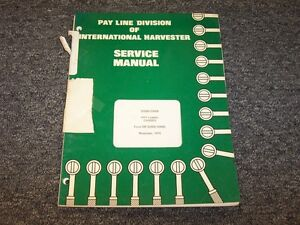 International Harvester 3200b 3300b Pay Loader Chassis Service Repair Manual