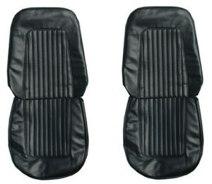 1967 68 Camaro Standard Front Seat Upholstery Covers In Black By Pui