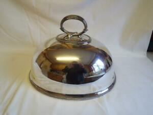 Large Antique William Gibson Belfast Silver Plated Meat Dome Cover