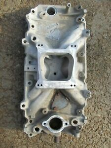 Vintage Holley Strip Dominator Chevy Intake Manifold Sbc 55 95 305 327 350 V8